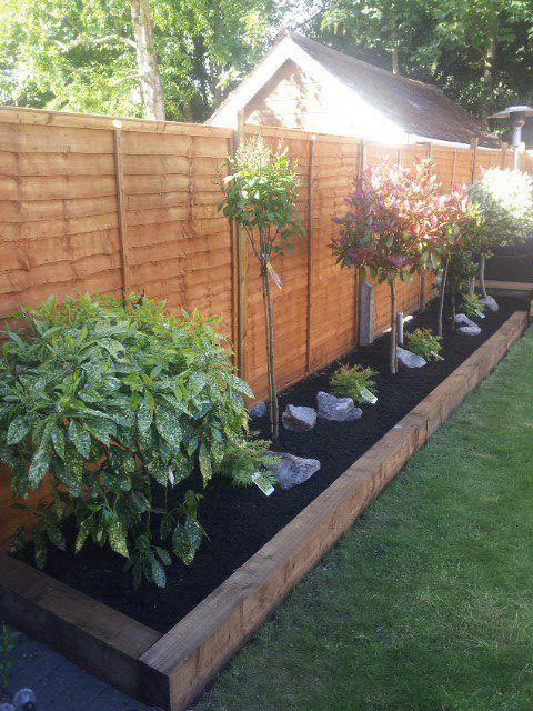 Image result for border edging sleepers | Backyard garden design .