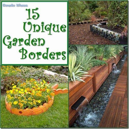 15 Unique Garden Border and Edging Ideas | Garden borders .