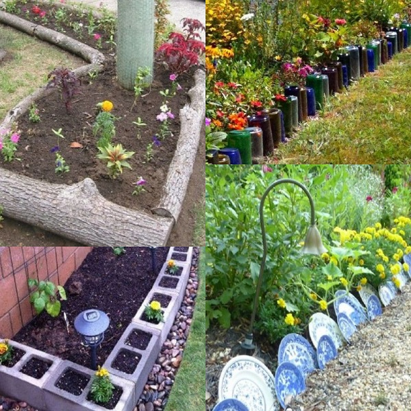 Ten Amazing Garden Borders Made From Recycled Thin
