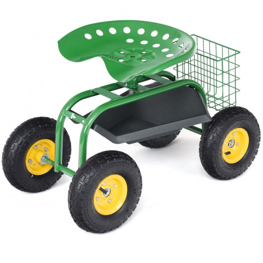 Giantex Rolling Tray Gardening Planting with Work Seat Garden Cart .