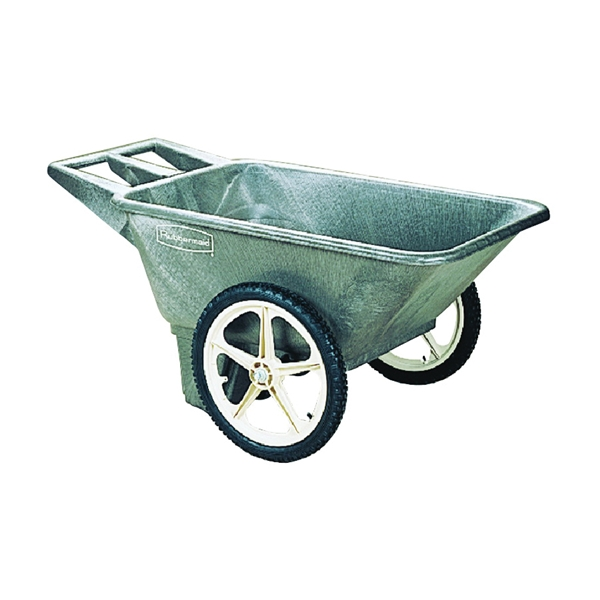 Rubbermaid Big Wheel Garden Cart, Black, 7.5 cu. ft. - Wilco Farm .