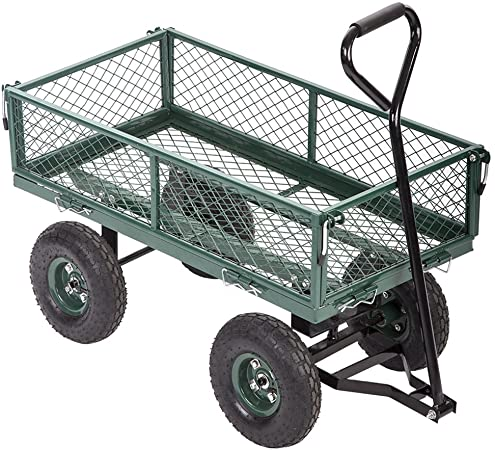 Amazon.com : FDW Garden Carts Yard Dump Wagon Cart Lawn Utility .