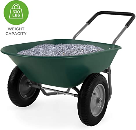 Amazon.com : Best Choice Products Dual-Wheel Home Utility Yard .