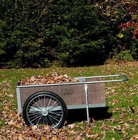 Amazon.com : Garden Cart with Pneumatic Wheels - Medium Size (Wood .