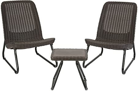 Amazon.com : Keter Rio 3 Piece Resin Wicker Patio Furniture Set .