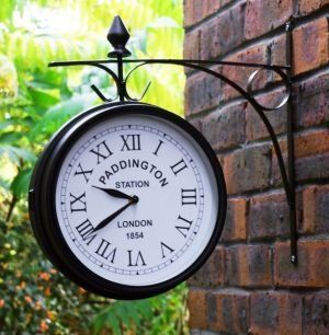 "Outdoor Garden Clock - Paddington - 27cm (10.5"") 