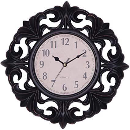 Amazon.com: YUW Outdoor Garden Clocks,European Style Living Room .