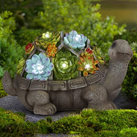 Amazon.com : GIGALUMI Turtle Garden Figurines Outdoor Decor .