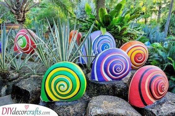 Snail Shells - Unique Garden Decoration Ideas for Summer | Vintage .