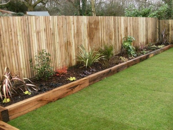 Garden Design Shade | Wooden garden edging, Backyard landscaping .