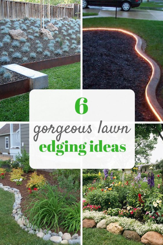 Pretty ideas for lawn and garden edging. Landscaping tips for .
