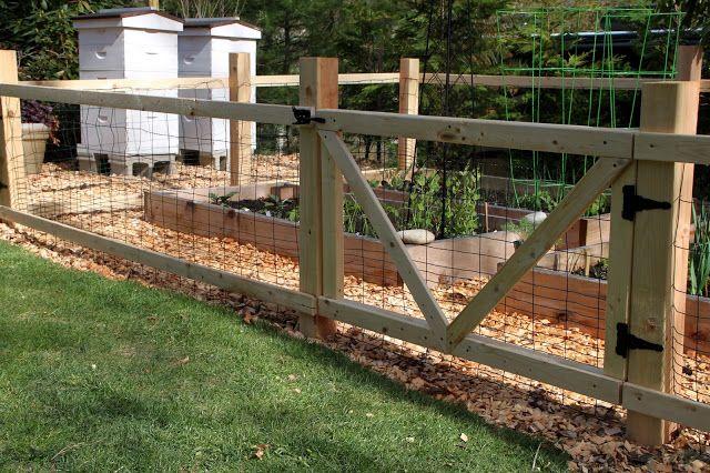 A Simple Garden Fence | Tilly's Nest | Small garden fence, Diy .