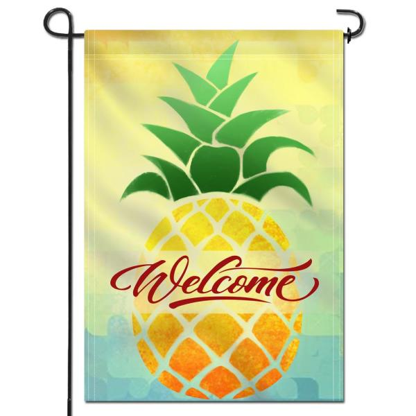 ANLEY 18 in. x 12.5 in. Double Sided Garden Flag Cartoon Pineapple .