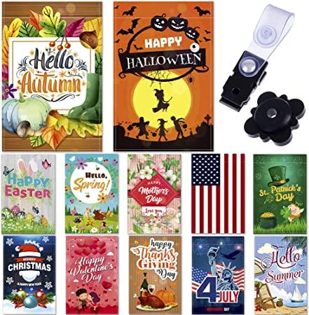 Amazon.com : Garden Flags – Set of 12 Seasonal Garden Flags .