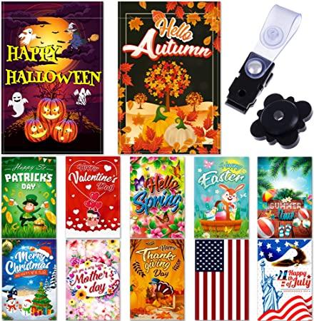 "Amazon.com : Seasonal Garden Flag Set of 12 Pack - 12""x 18"" for ."