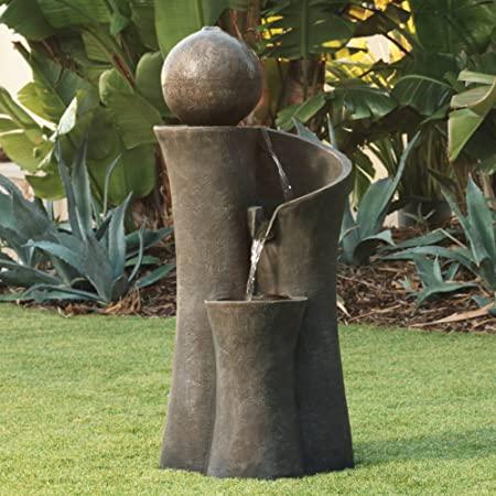 Amazon.com : John Timberland Modern Sphere Zen Outdoor Floor Water .