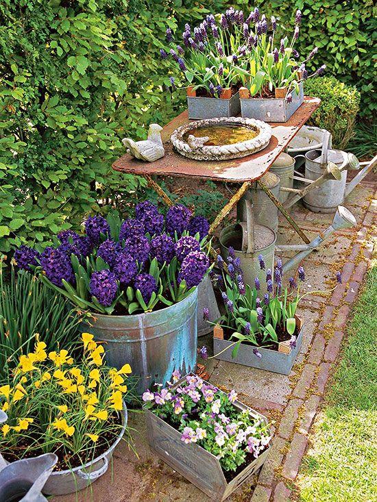 Rustic Garden Inspiration | Garden inspiration, Rustic gardens .
