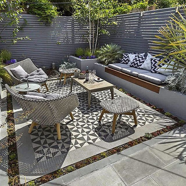 Small garden inspiration - This urban outdoor area was designed .
