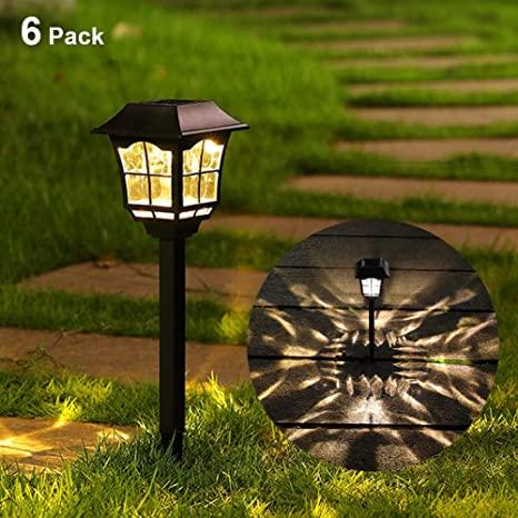 Maggift 8 Lumens Solar Pathway Lights Solar Garden Lights Outdoor .