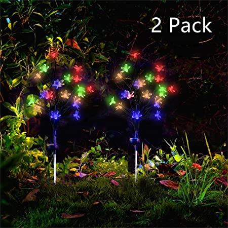 Amazon.com : Forlive Solar Garden Lights Outdoor Beautiful Bright .