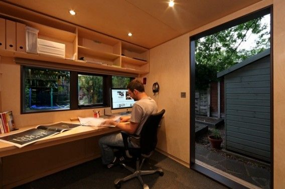 10 Private, tranquil and spectacular garden shed offices .