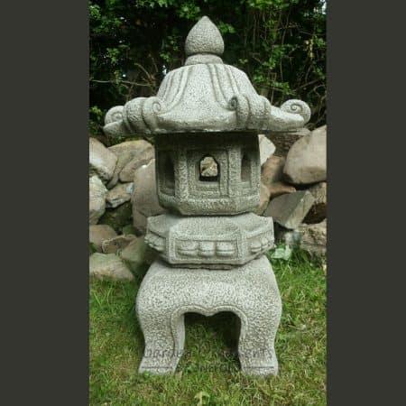 LARGE JAPANESE PAGODA LANTERN Hand Cast Stone Garden Ornament Koi .
