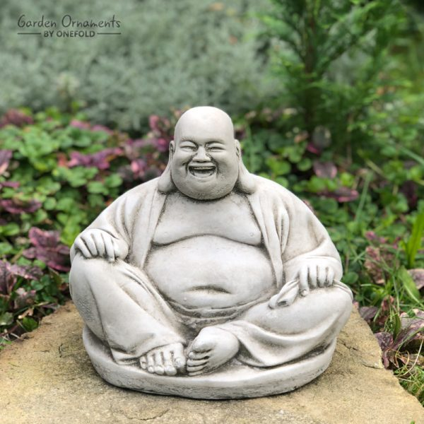 Laughing Buddha Garden Statue - Garden Ornaments by Onefo