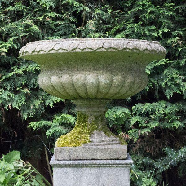 Antiqued Regency Vase Garden Orname