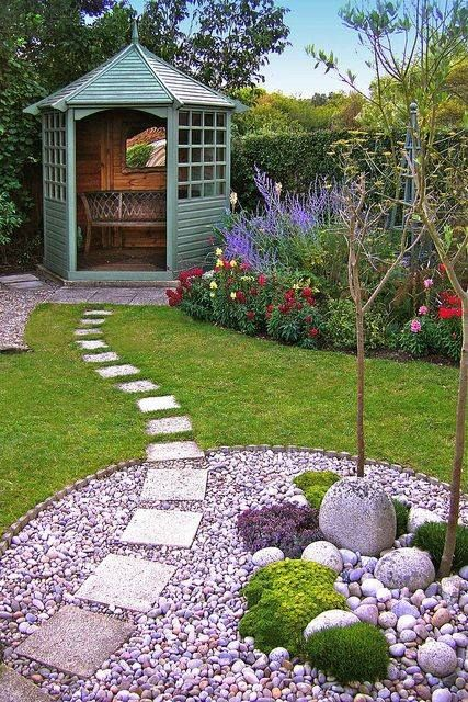 garden path, small gazebo | Garden design, Beautiful gardens .