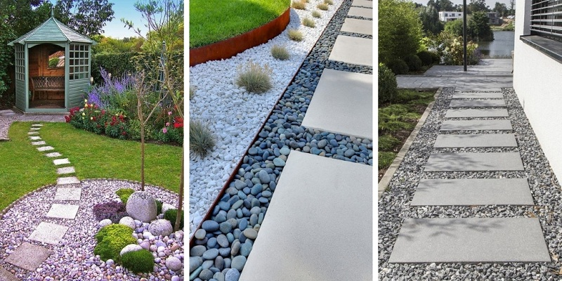 How To Make Garden Paths From Wood, Stone, Grave