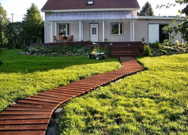 Home Garden Ideas: A Wonderful Garden Path Ide