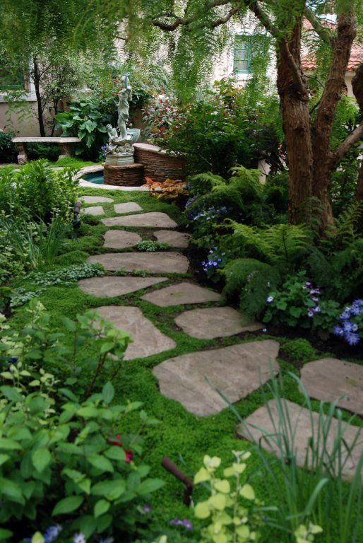 Garden path- Roger's Gardens Landscape | Small backyard .