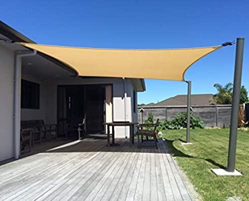 Amazon.com : SUNNY GUARD 12' x 16' Sand Rectangle Sun Shade Sail .