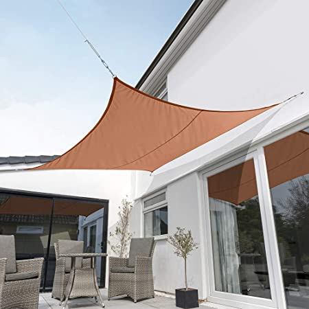 Amazon.com : Kookaburra Waterproof Terracotta Sun Shade Sail .