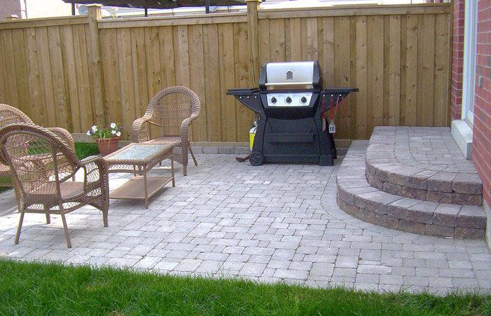 Simple Garden Patio Ideas Design Paver Concrete Home Elements And .
