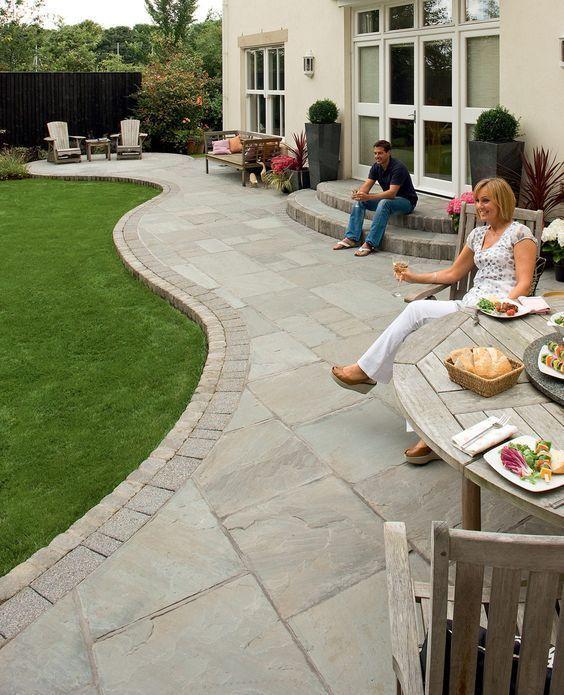 Fairstone Riven Stone Garden Paving | Garden paving, Back garden .