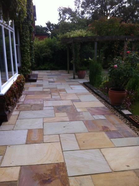 Indian Sandstone Garden Paving | Garden paving, Hardscape, Back .