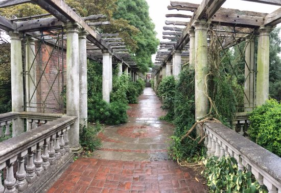 Hill Garden pergola looking east toward Hill House (July 2017 .