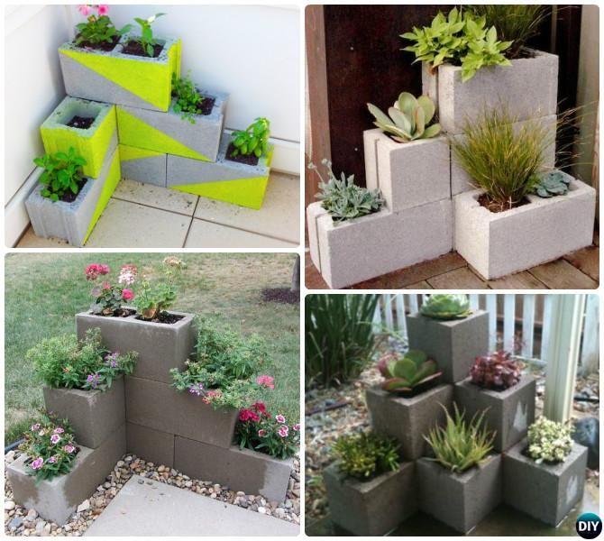 DIY Corner Cinder Block Planter-10 Simple Cinder Block Garden .