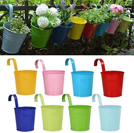 Amazon.com: RIOGOO Flower Pots Hanging Flower Pots, Garden Pots .
