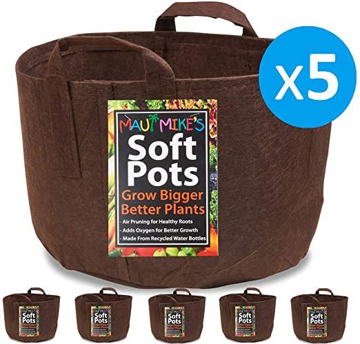 Amazon.com: Soft POTS (3 Gallon) (5 Pack) Best Aeration Fabric .