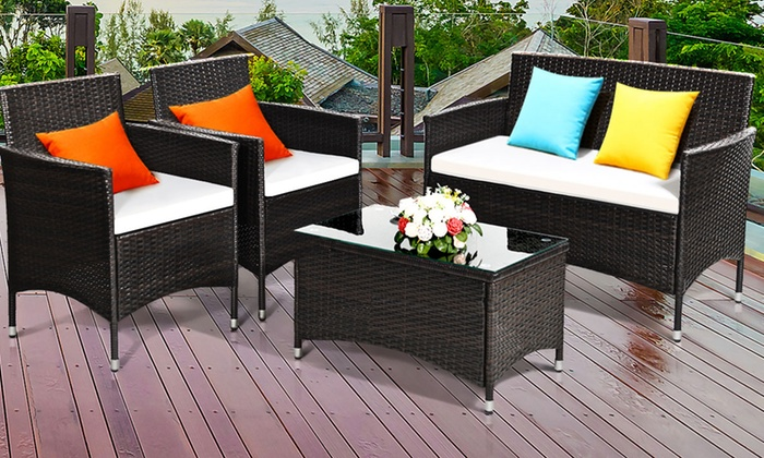 Up To 3% Off on Patio Furniture Set (4-Piece) | Groupon Goo