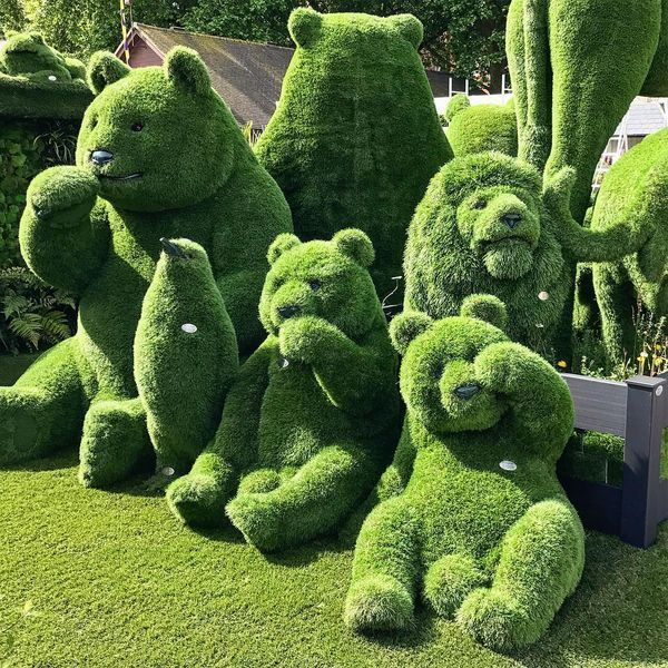 Decorate your garden with impressive garden sculpture designs .