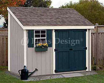 4' x 10' Storage Utility Garden Shed / Building Plans, Design .
