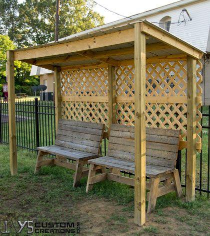 Dog Park Mini Shelter | Small garden shelter, Outdoor shelters .