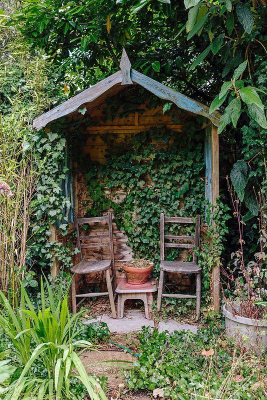 Image result for rustic garden shelter | Small garden shelter .