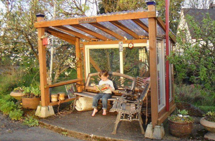 Rain shelter | Rain shelter, Small garden shelter, Diy backya