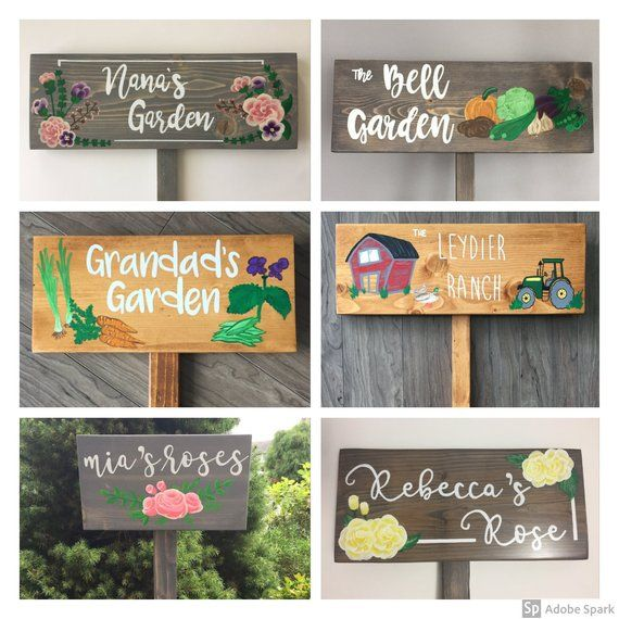 Personalized Garden Sign, Memorial Sign, Gardening or Memorial .