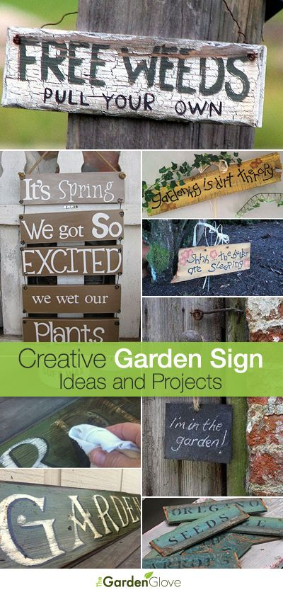 Creative DIY Garden Sign Ideas and Projects • The Garden Glove .
