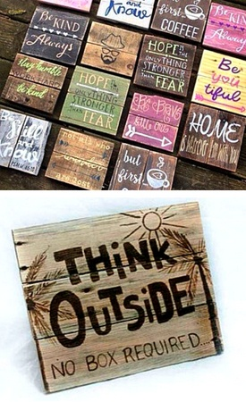 Garden signs made from pallet wood - Container Water Garde
